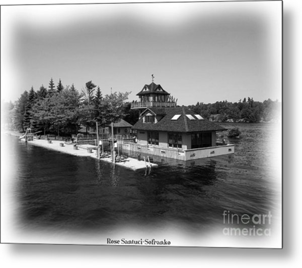 Thousand Islands In Black And White Metal Print