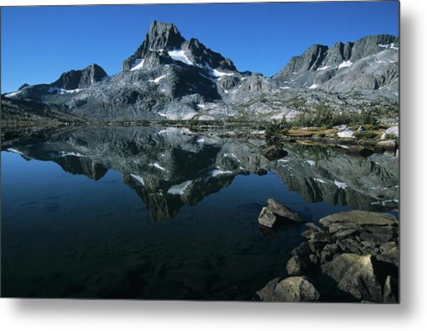 Thousand Islands Lake And Reflection Of Mount Davis Metal Print