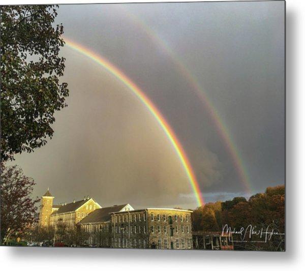 Thread City Double Rainbow  Metal Print