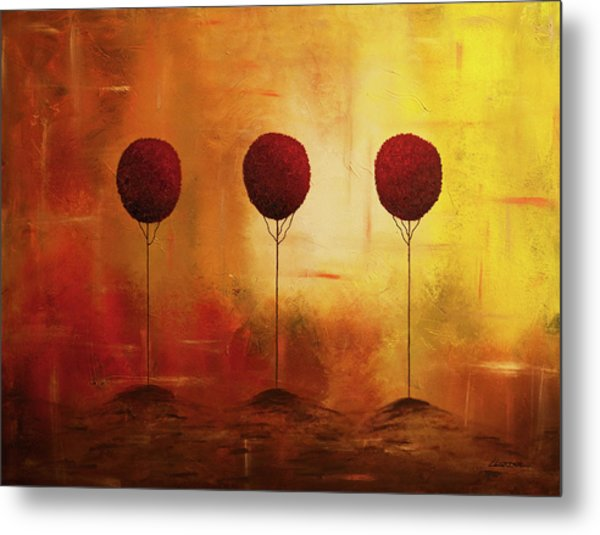Three Alone But Together Metal Print