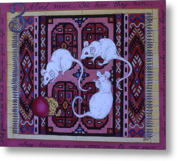 Three Blind Mice Metal Print by Victoria Heryet