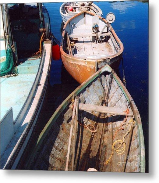 Three Boats Metal Print by Andrea Simon