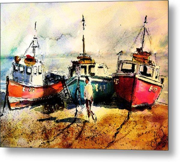 Three Boats Metal Print
