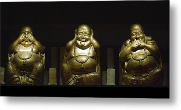 Three Buddhas Metal Print