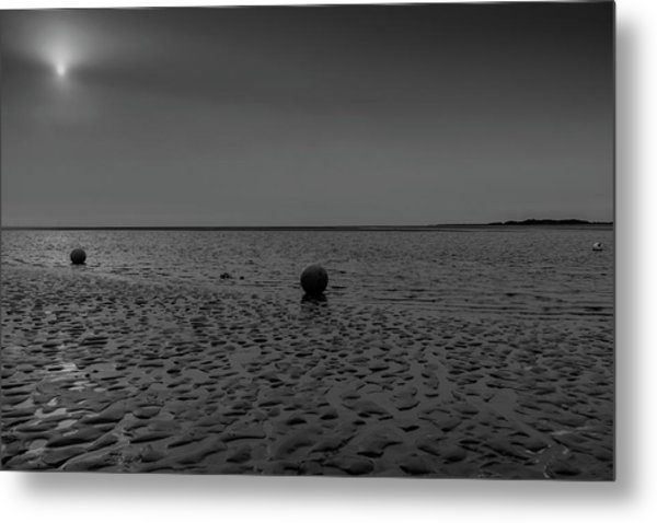 Three Buoys Metal Print