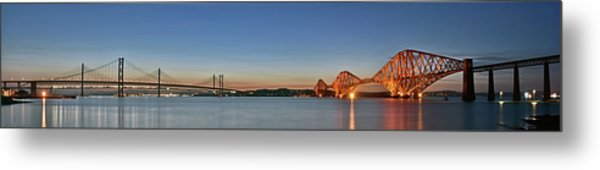 Three Forths At Dusk Metal Print