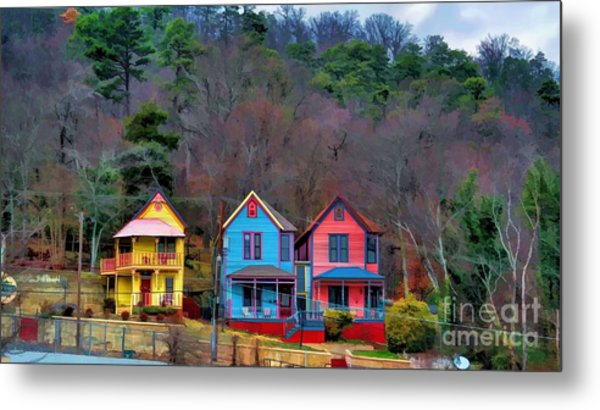 Three Houses Hot Springs Ar Metal Print