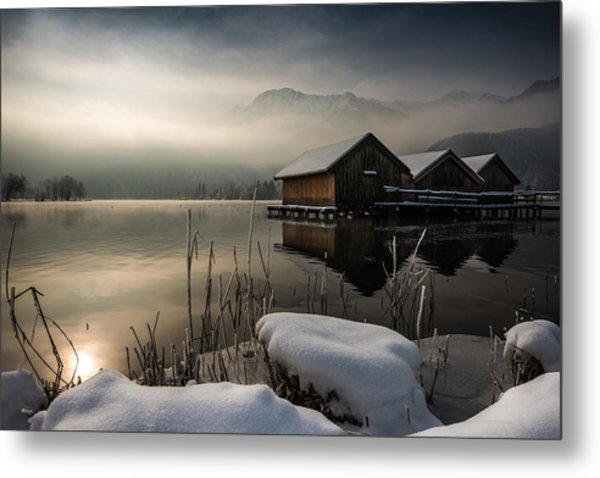 Three Huts Metal Print
