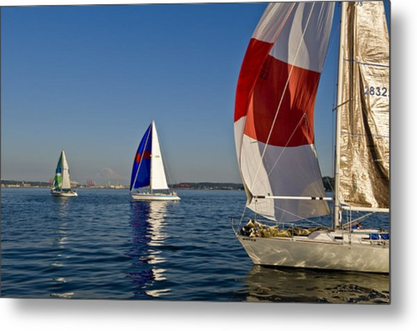 Three In A Row Metal Print by Tom Dowd