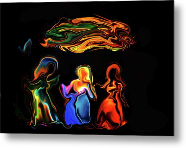 Three Ladies Metal Print