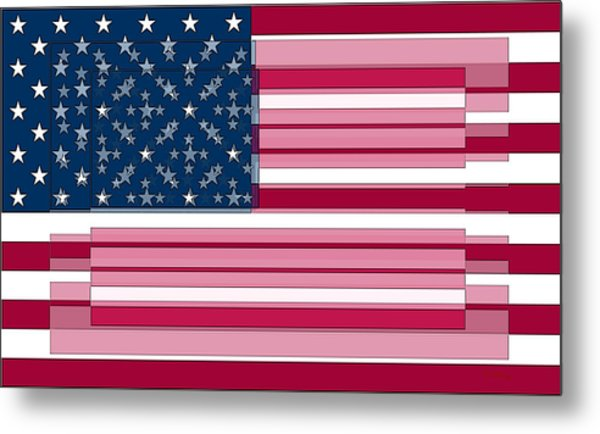 Three Layered Flag Metal Print