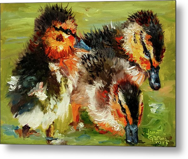 Three Little Ducks Metal Print