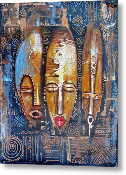 Three Masks Metal Print