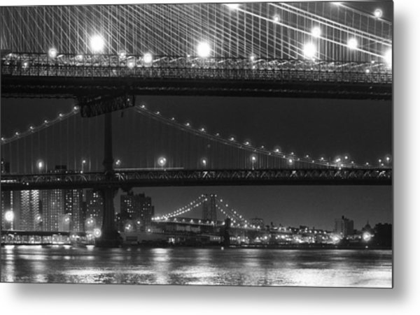 Three New York Bridges 2 Metal Print