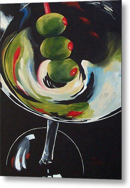 Three Olive Martini IIi  Metal Print by Torrie Smiley