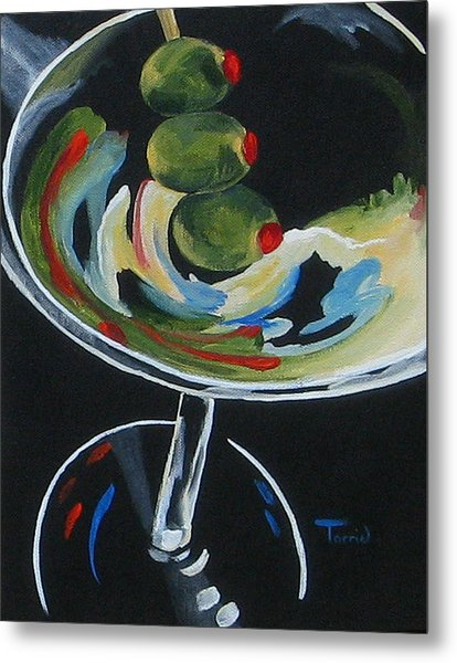 Three Olive Martini V  Metal Print by Torrie Smiley