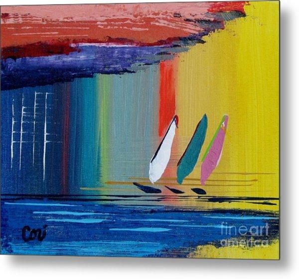 Three Sails Metal Print