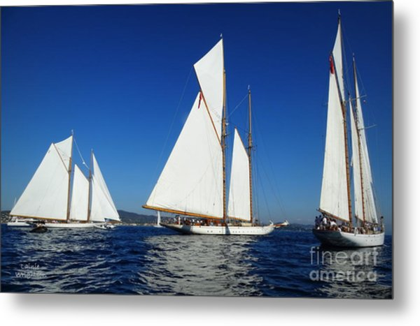 Three Schooners Metal Print