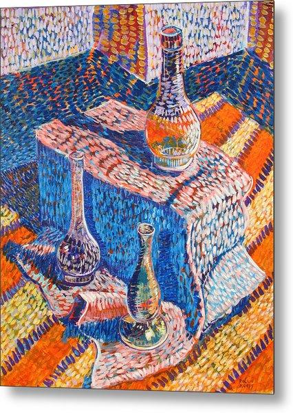 Three Simple Vases Metal Print by Rollin Kocsis