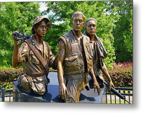 Three Soldiers Monument Metal Print