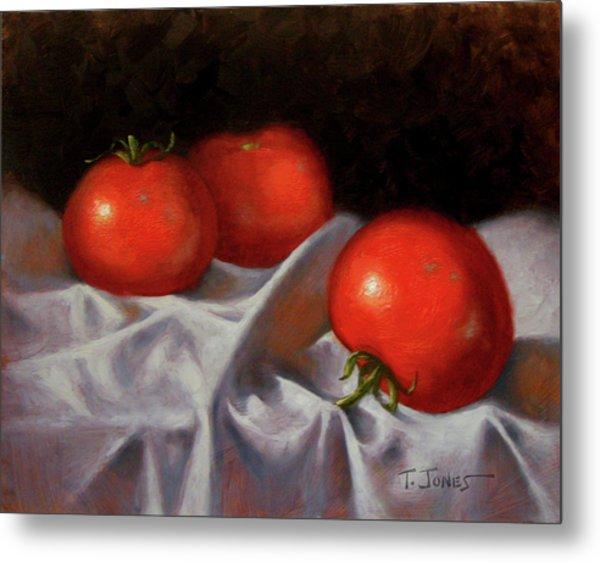 Three Tomatoes Metal Print