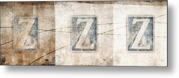 Three Zees Metal Print
