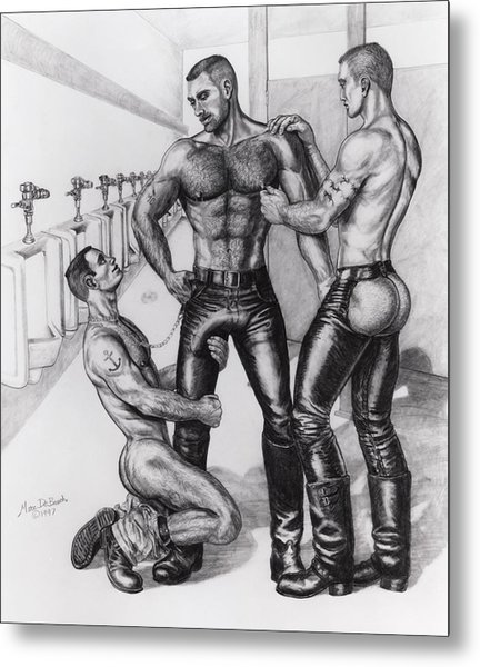 Threeway In Tearoom Metal Print