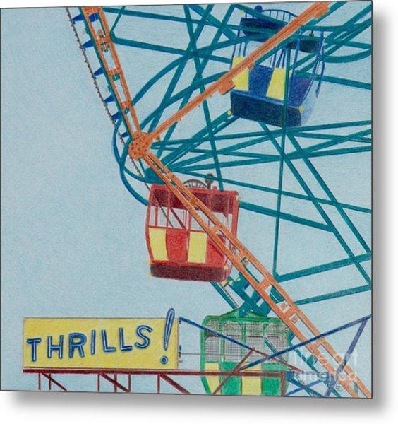 Thrills Metal Print