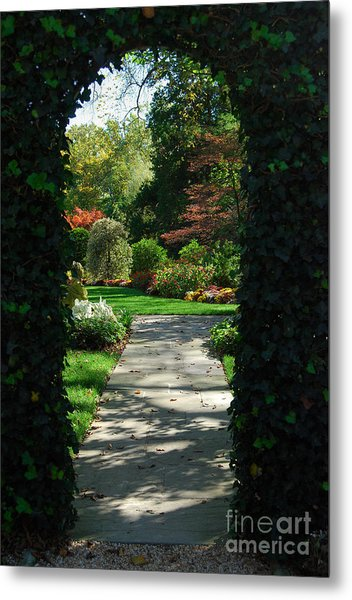 Through The Archway Metal Print