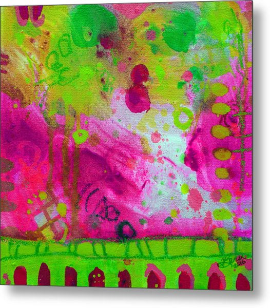 Metal Print featuring the painting Through The Fire by Tracy Bonin