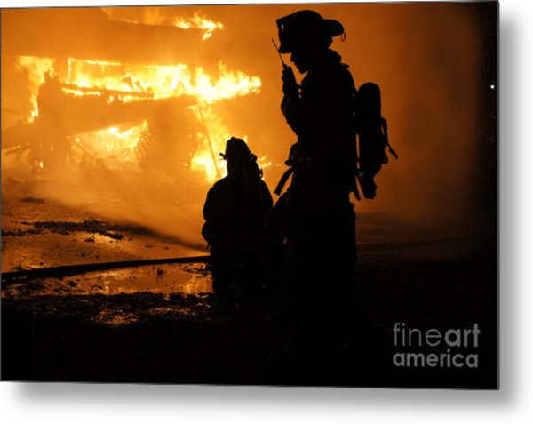 Through The Flames Metal Print