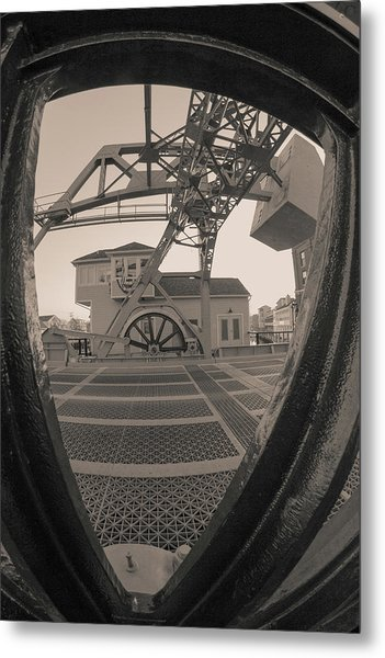 Through The Gear In Mystic Ct Metal Print