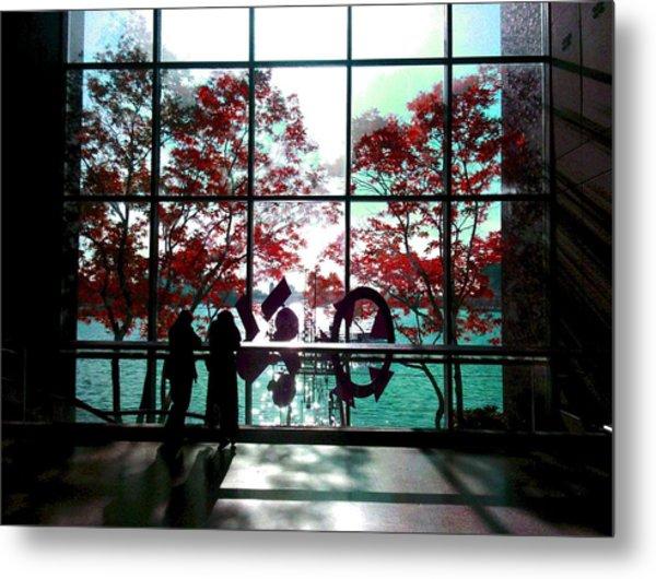 Through The Glass Metal Print