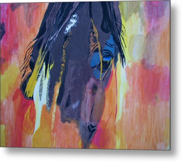Through The Horse's Eyes Metal Print