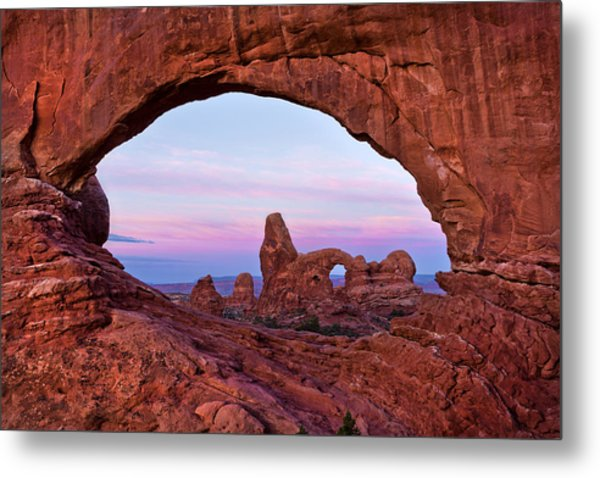 Through The North Window Metal Print