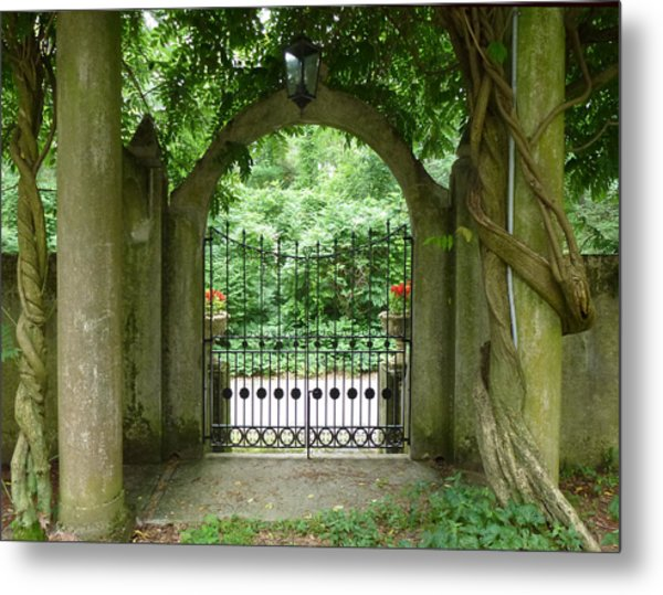 Through The Tuscan Gate Metal Print
