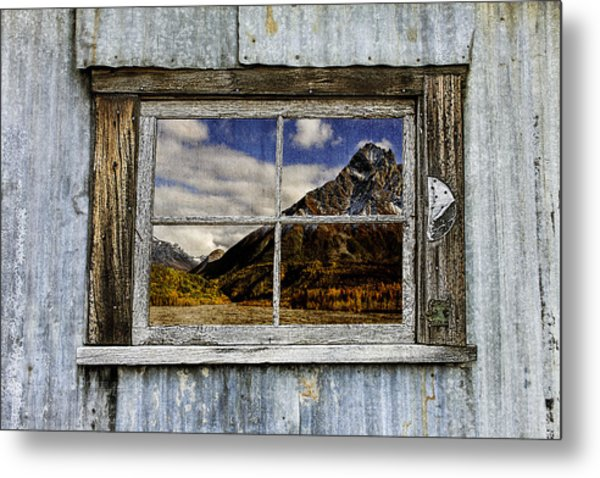 Through The Window Of The Past 2 Metal Print