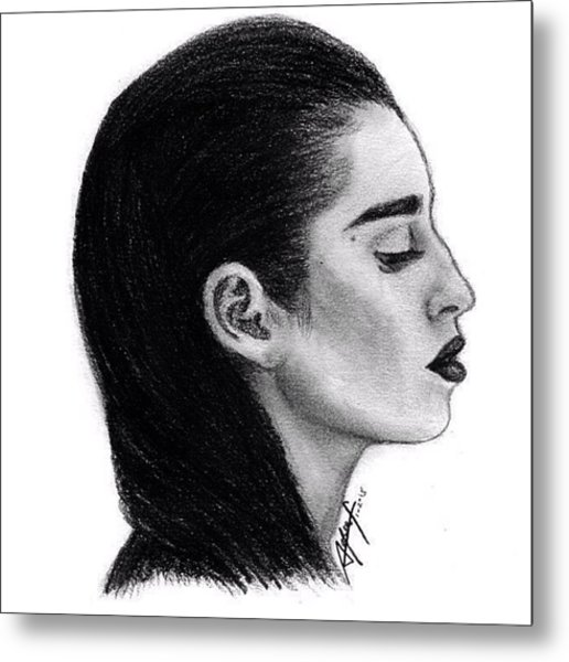 Lauren Jauregui Drawing By Sofia Furniel Metal Print
