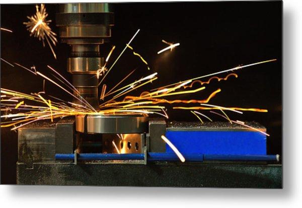 Throwing Sparks Metal Print
