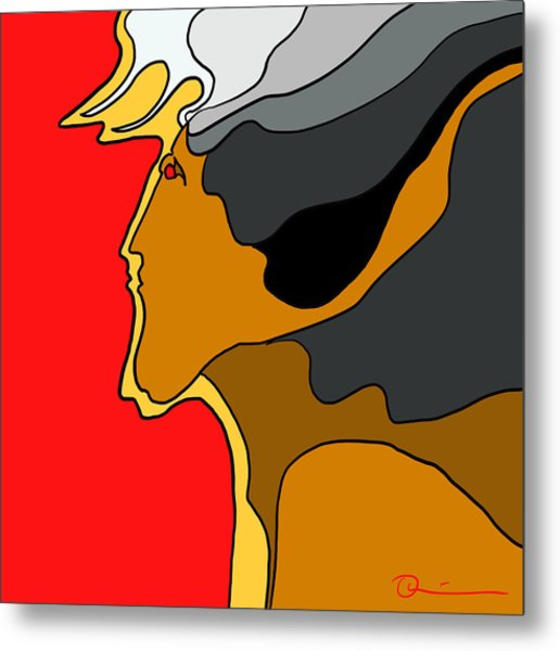 Thunder God Metal Print