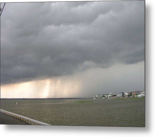 Thunder On The Bay Metal Print