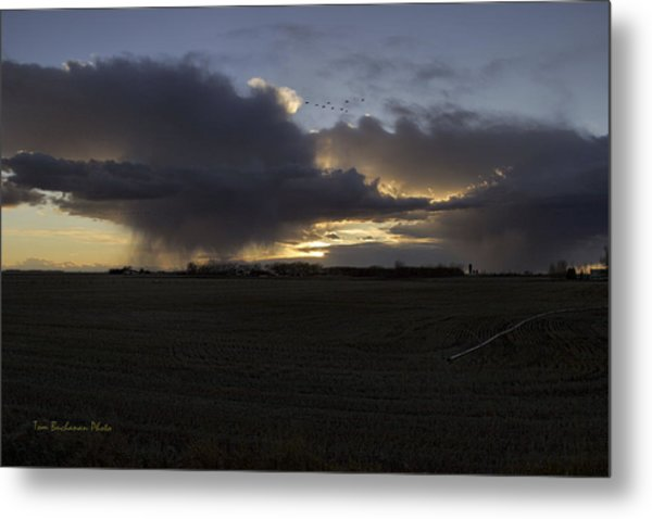 Thunder On The Prairie Metal Print