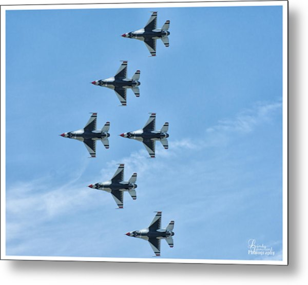 Metal Print featuring the photograph Thunderbirds by Linda Constant