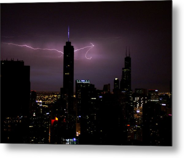Thunderbolts Across The Sky Metal Print