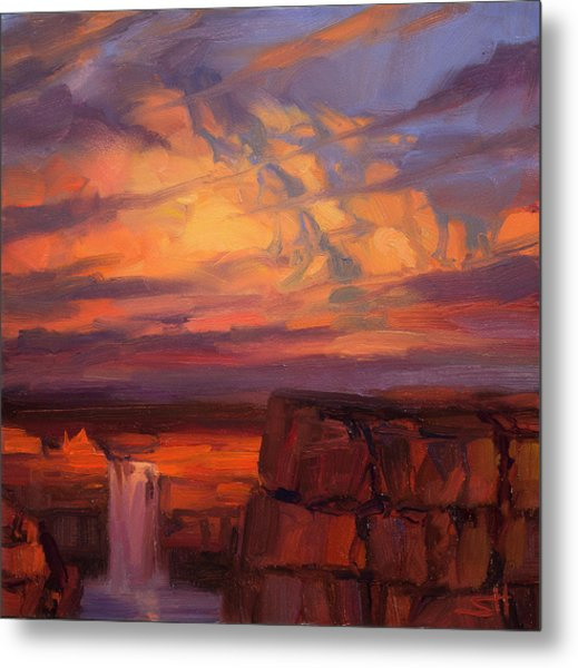 Thundercloud Over The Palouse Metal Print