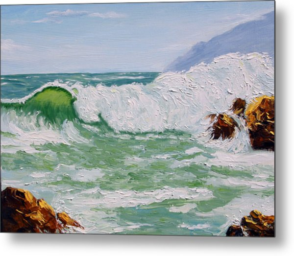 Thundering Surf Metal Print by Lorraine Foster