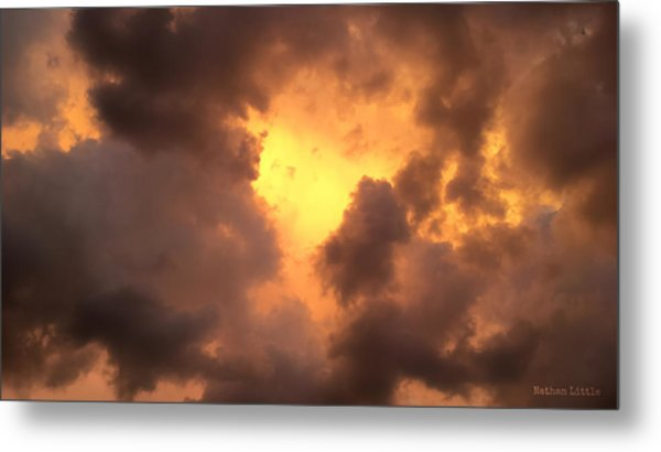 Thunderous Sunset Metal Print