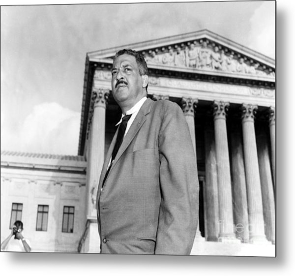 Thurgood Marshall Metal Print