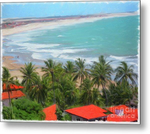 Tiabia, Brazil Beach Metal Print