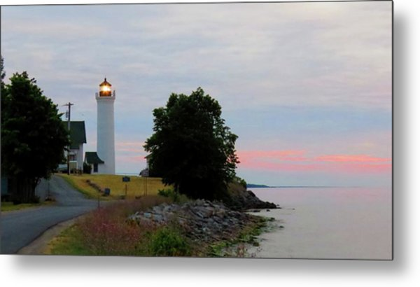 Tibbetts Point Light Sunset Metal Print